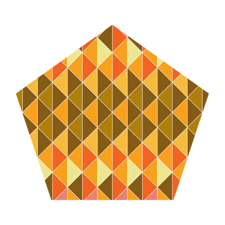 geometrical: pentagon with geometrical pattern