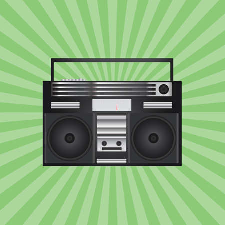 grabadora: grabadora de cinta retro Vectores