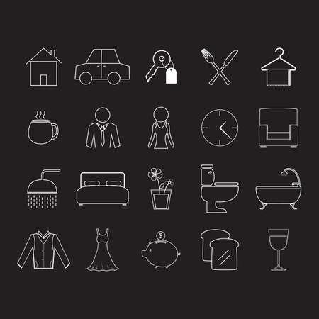 hold: set of house hold icons Illustration
