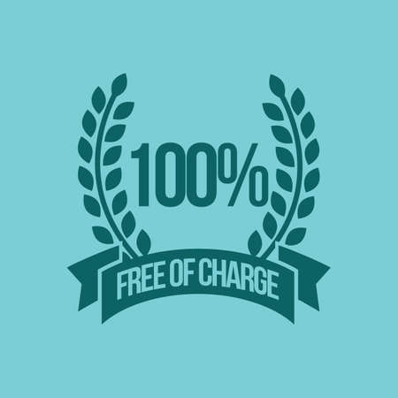 charge: free of charge label