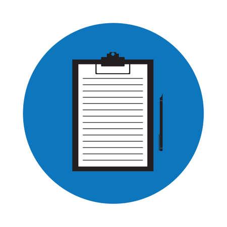 portapapeles: papel en el portapapeles Vectores