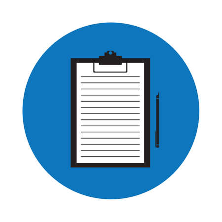 the clipboard: papel en el portapapeles Vectores