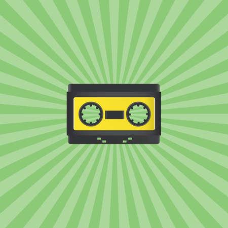 audio cassette: retro audio cassette