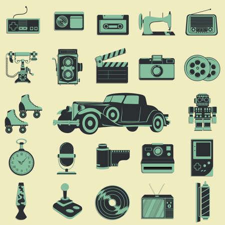 barbershop pole: retro icons Illustration