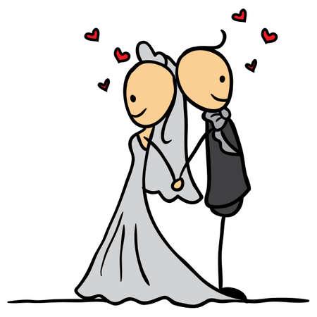 married couples: wedding couple posing