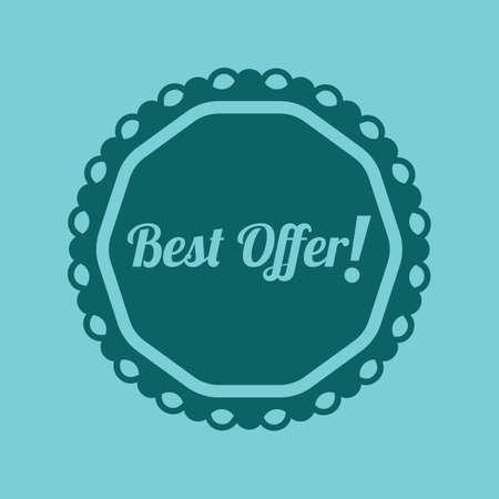 the best: best offer label Illustration