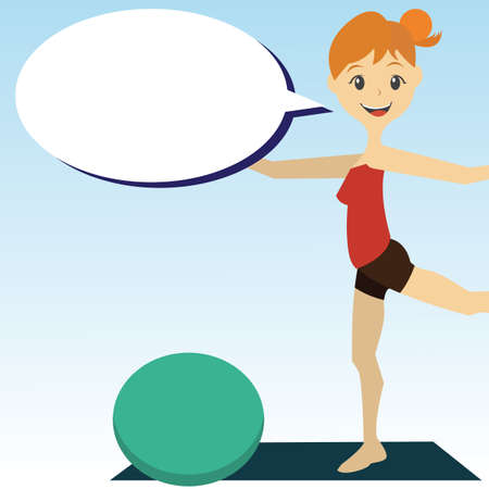 fitness ball: girl with fitness ball