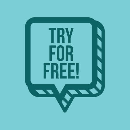 try for free label
