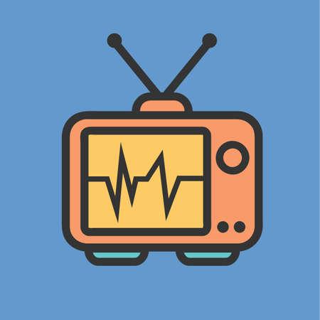 vintage television: vintage television Illustration