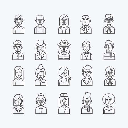 diferentes profesiones: personas con diferentes profesiones