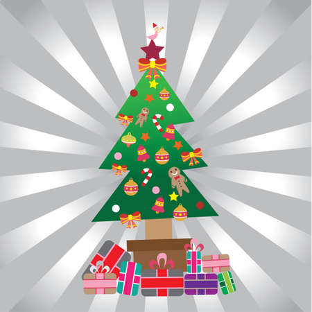 gift packs: christmas tree with gift packs