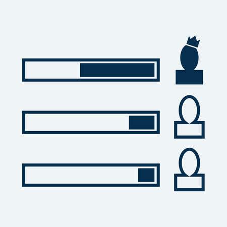 candidates: comparison of candidates Illustration