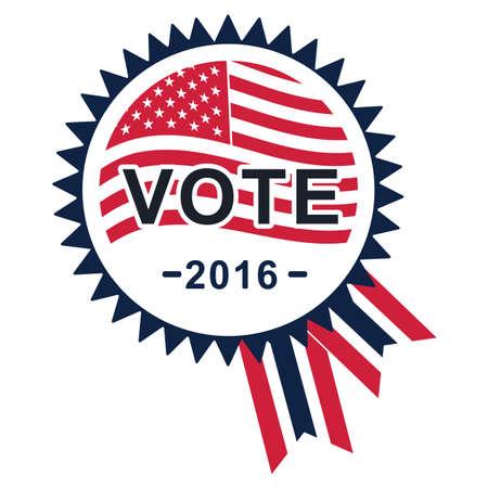 rosette: usa vote rosette