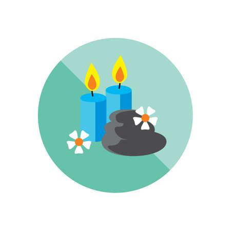 zen stones: candles with zen stones Illustration