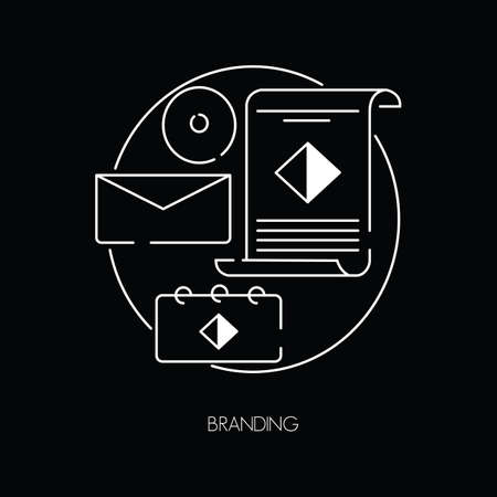spiral book: branding icon