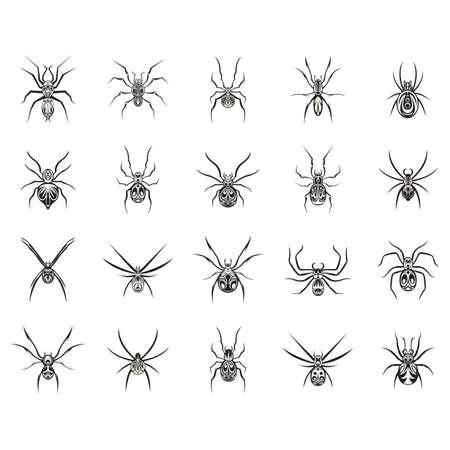 cerambycidae: beetle tattoo set