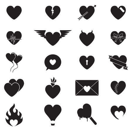 lovestruck: collection of heart shaped icons