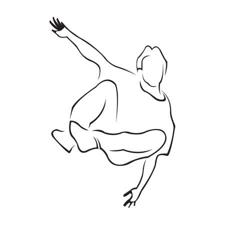 hip hop dance pose: hip-hop dancer