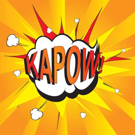 kapow: pop art kapow Illustration
