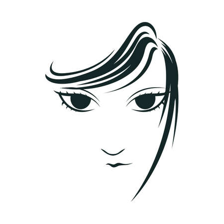 young girl: young girl face Illustration