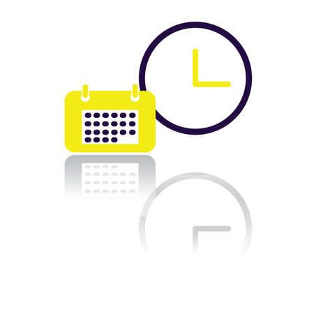 almanac: calendar and a clock Illustration
