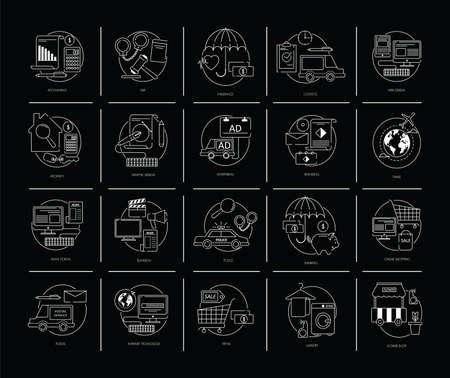 basic law: set of flat design icons