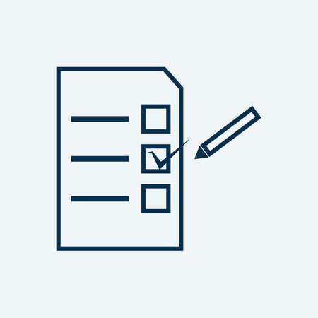 投票用紙  イラスト・ベクター素材