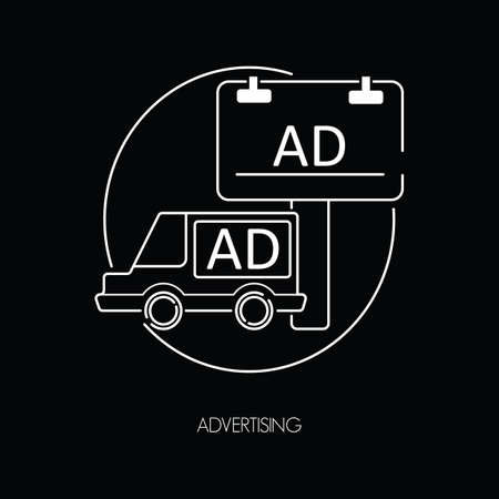 four wheeler: advertising icons