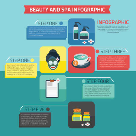revitalize: beauty and spa infographic