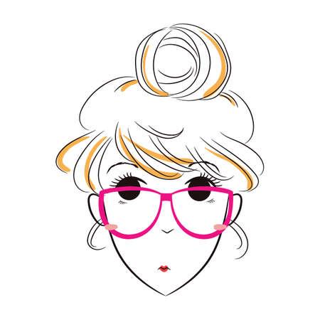 girl: girl thinking Illustration