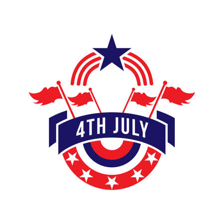 fourth july: usa fourth july label