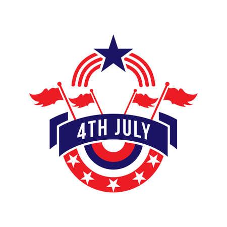 fourth of july: usa fourth july label