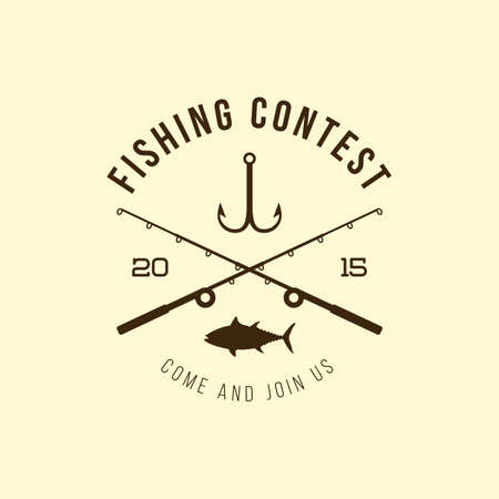 contest: fishing contest label
