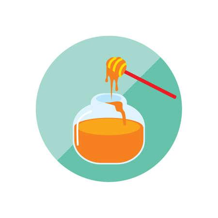 dipper: honey jar with dipper