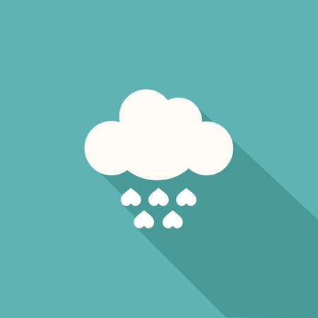 raining: cloud with raining heart
