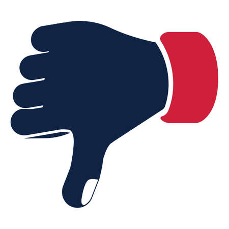 rejection: thumbs down