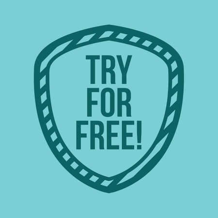 try: try for free label