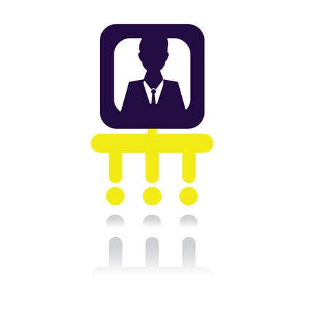 organigrama: hombre de negocios en un organigrama