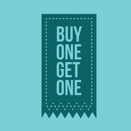 1: buy one get on free tag