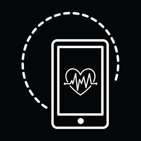 un teléfono inteligente con el cardiograma del corazón