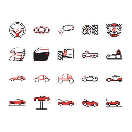 spare part: collection of car auto parts