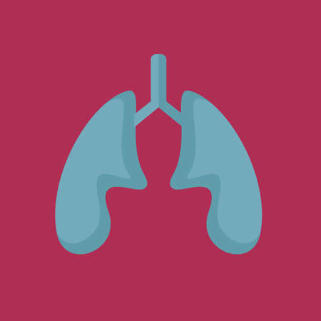 exhale: lungs Illustration