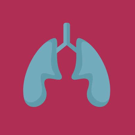 inhale: lungs Illustration