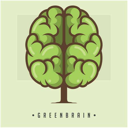 green brain concept