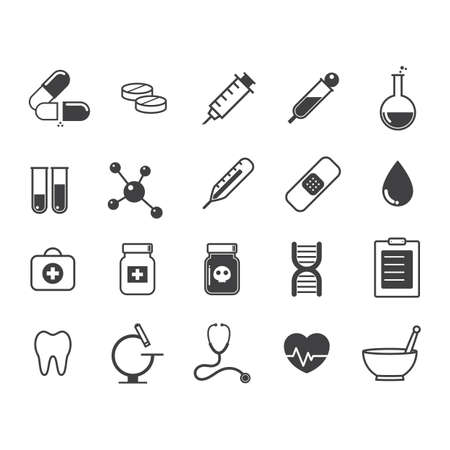 colección de iconos de médicos