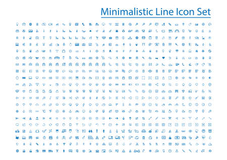 minimalistic line icon set