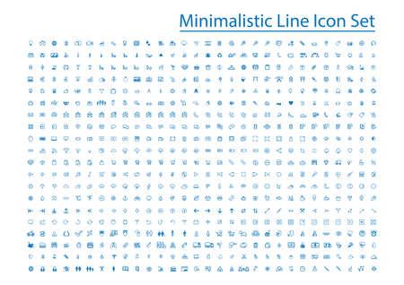 minimalistic line icon set