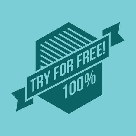 to try: try for free label