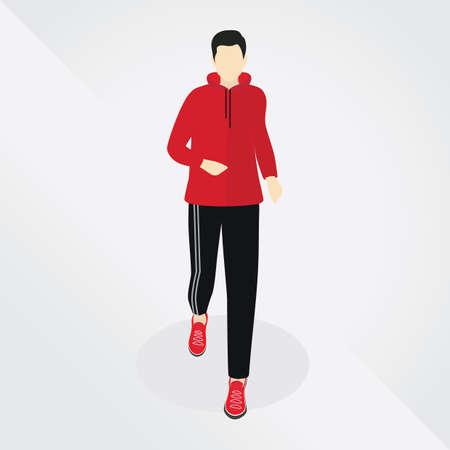 tracksuit: man running Illustration