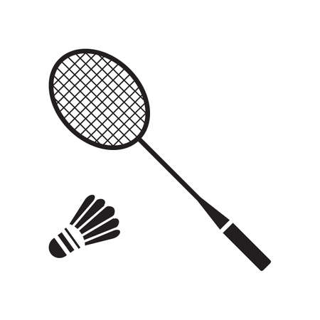 badminton racket: badminton racket with shuttlecock Illustration